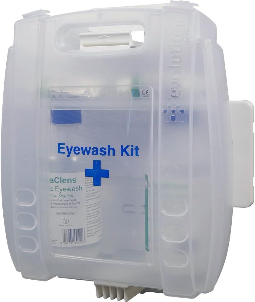 Safety First Aid e459t Eye Wash Armario lavaojos, 500ml, Juego de 2