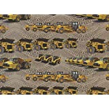 Caterpillar Construction Machines Quilt Fabric Fat Quarter