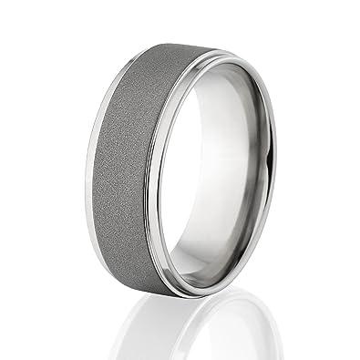 American Made Cobalt Wedding Rings Cobalt Chrome Bands Amazon Com