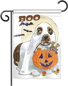 Breeze Decor G162086 Halloween Boo Doggie Fall Halloween Impressions Decorative Vertical Garden Flag 13