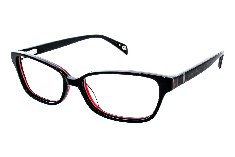 Amazon.com: Lulu Guinness Women\'s Optical Eyeglasses L865 Black/red ...