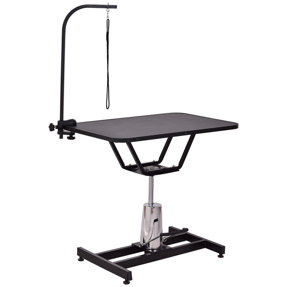 Giantex 36'' Pet Grooming Table Professional Home Hydraulic Adjustable Height Durable Dog Cat Care Table w/Adjustable Arm Noose