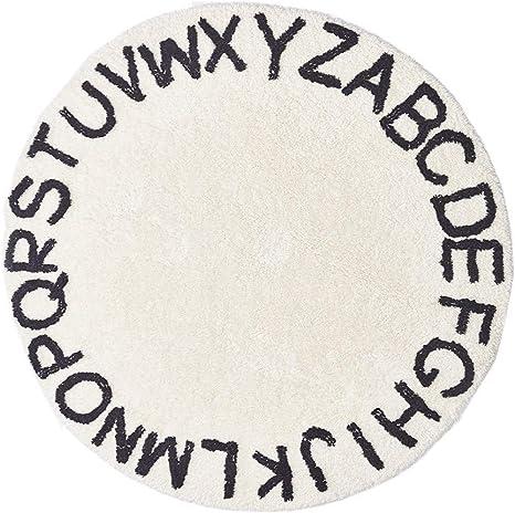 Di/ámetro: 120 cm Redonda Decoraci/ón Infantil 26 Letters Alfombra para Ni/ños Alfombra de Juego Alfombra Teepee Alfombra Baby Play