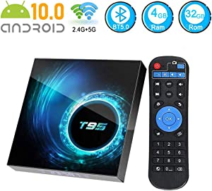 Android 10.0 TV Box,EASYTONE Android TV Box 4GB Ram 32GB ROM Allwinner H616 Quad-Core Support Dual WiFi 2.4G+5G BT 5.04K 6K Ultra HD H.265 3D T95 Smart Media Player