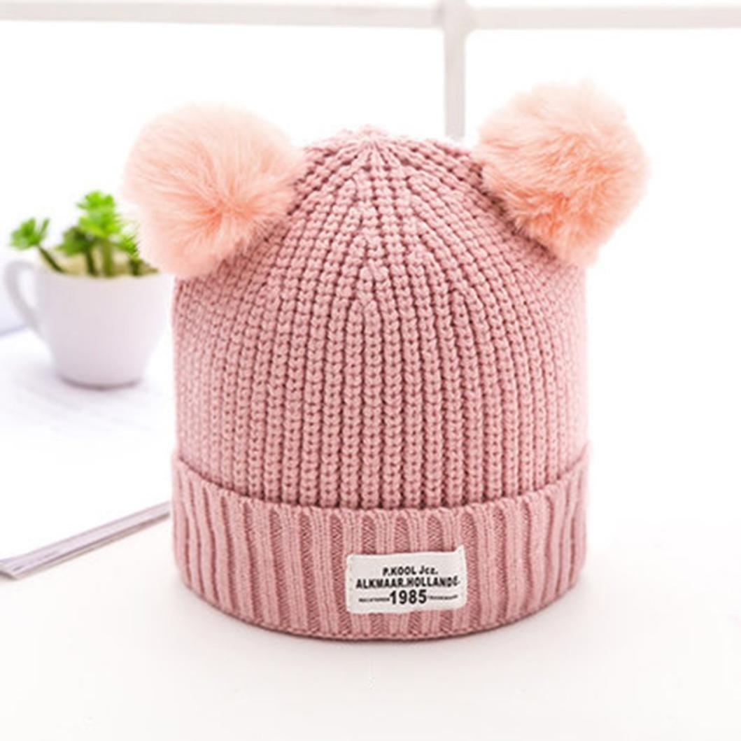 Gorros Bebé invierno cálido sombreros Punto de lana dobladillo Zapatos de bebé Bufandas del Bebé ropa bebe by Xinantime (Beige): Amazon.es: Hogar