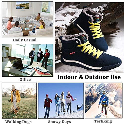 Boots Cheville Lacet Vert Chaussure Homme Hiver Chaudes Neige Bottes Fourrure De Eagsouni® Doublée E08x7wqpw