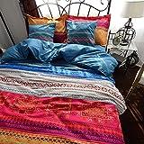 MeMoreCool Home Textile Fashion Boho Bedding Set Modern Bohemian Duvet Covers 100% Cotton Brand 4Pcs Bedding Set Queen/King Size