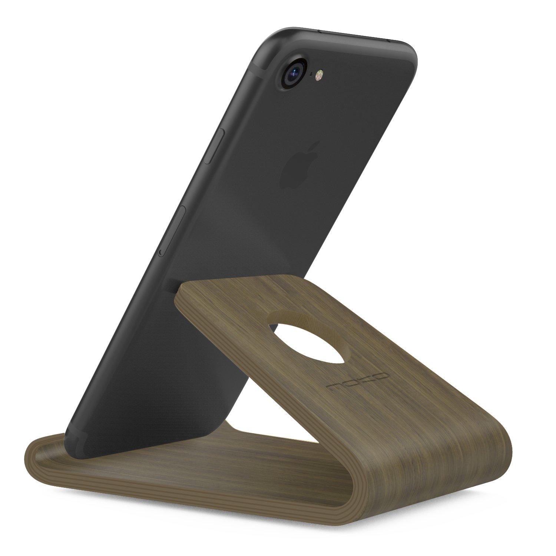 7 Plus// 6s 6s Plus//Galaxy S7 S6 Edge Color Profundo S7 Edge // S6 MoKo Smartphone Soporte Universal Apple iPhone 7 Port/átil Cell Phone Stand Holder De Madera Wood para Galaxy S10