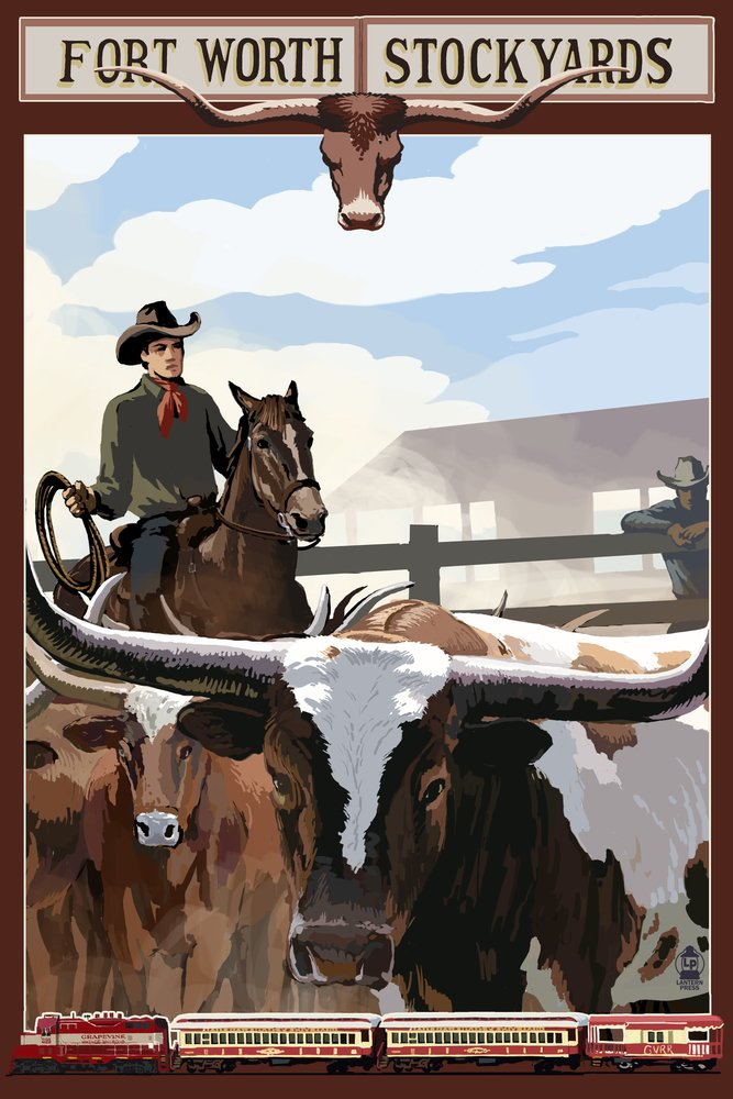 Theストックヤード – Fort Worth , Texas 36 x 54 Giclee Print LANT-40918-36x54 B017E9VKEY 36 x 54 Giclee Print36 x 54 Giclee Print