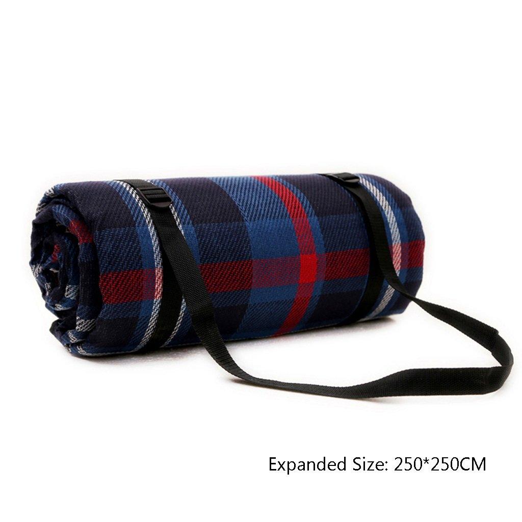 TMY Picknick-Matte Fashion Plaid Plaid Plaid Streifen im Freien tragbare Pad feuchtigkeitsfeste wasserdichte Matte faltbare leichte Matte für Picknick Camping Trekking (Farbe   B, Größe   250250CM) B07D9J2J73 | Niedriger Preis  792927