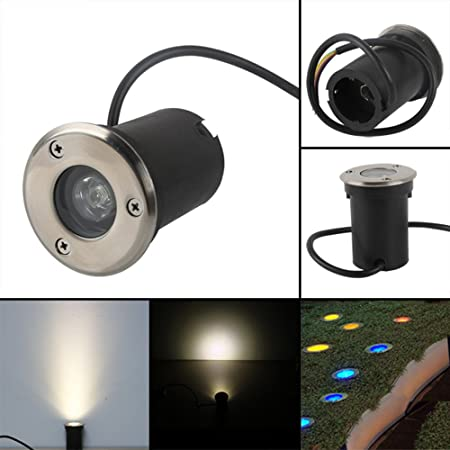 12 x Edelstahl Bodeneinbaustrahler Außenleuchte Lampe Leuchte Einbau Strahler 2