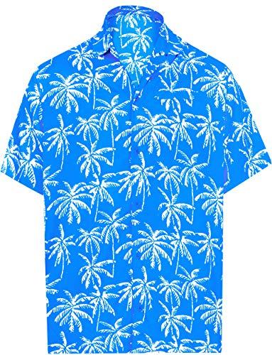 - LA LEELA Tropical Shirt for Men Front Pocket M|Chest 40