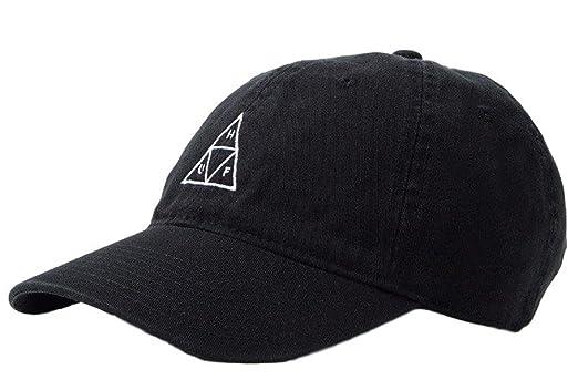amazon ハフ huf the triple triangle dad hat in black トリプル