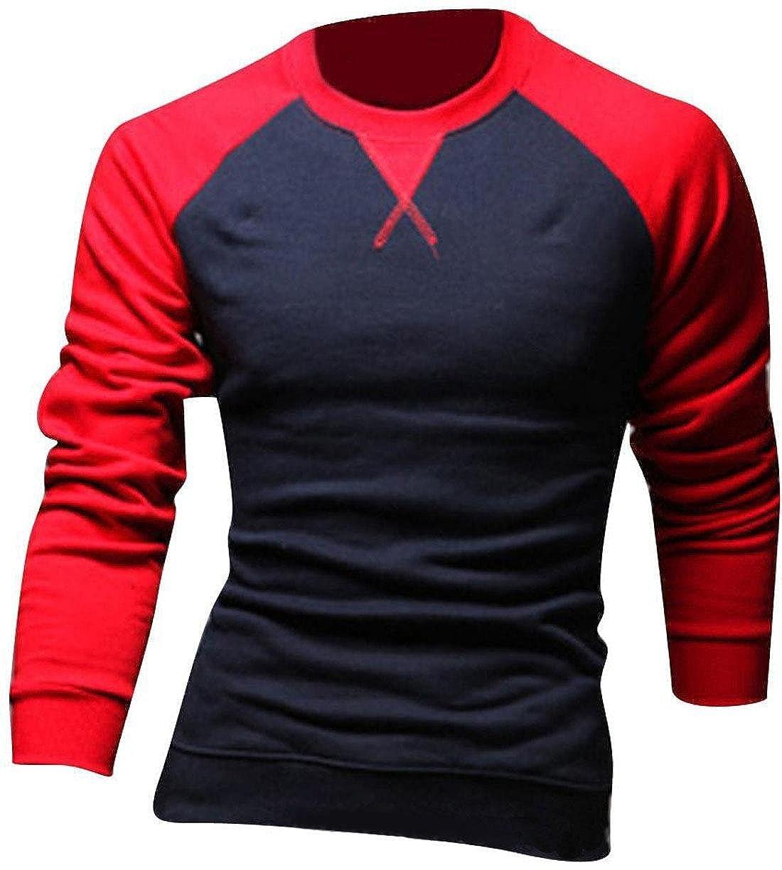 Jeansian Hombres Casual Slim Fit Manga Larga Camisetas Cuello Redondo tee Tops Dress D346: Amazon.es: Ropa y accesorios