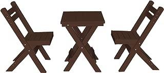 product image for Amish Poly Coronado Square Folding Bistro Set (Tudor Brown)