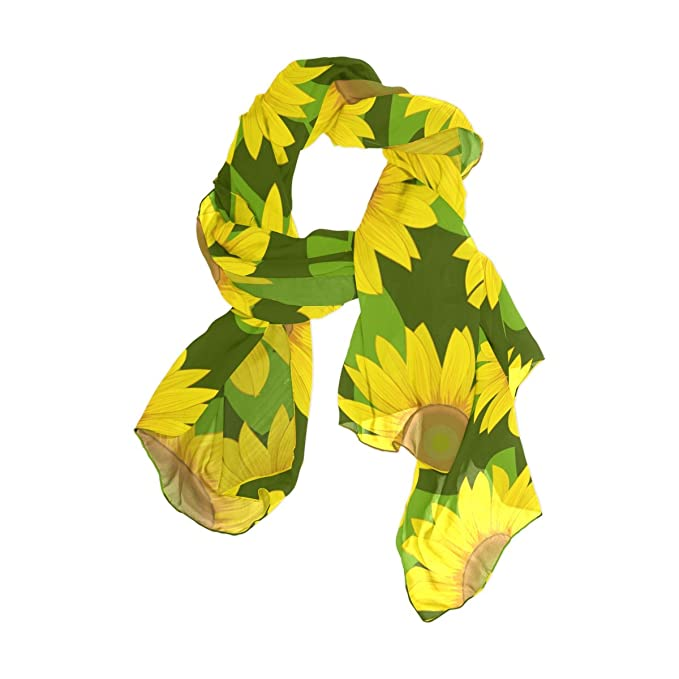 e685b5b1a Image Unavailable. Image not available for. Color: Sunlome Women's Scarves  Sunflowers Yellow Shawl Wraps ...