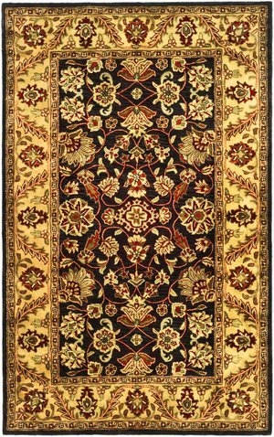 Golden Jaipur Black/Gold Rug Rug Size: 3' x 5'