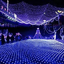 EShing 6.6ft*9.8ft 210 LED Waterproof Net Mesh Fairy Lights Twinkle Lighting for Wall, Tree, Garden, Lawn, Patio, Wedding, Party, Indoor, Outdoor Decorations (Blue)