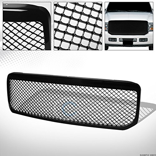 R&L Racing Glossy Black Finished Mesh Front Hood Bumper Grill Grille for 1999-2004 Ford F250 / F350 / F450 / F550 Excursion Superduty ()