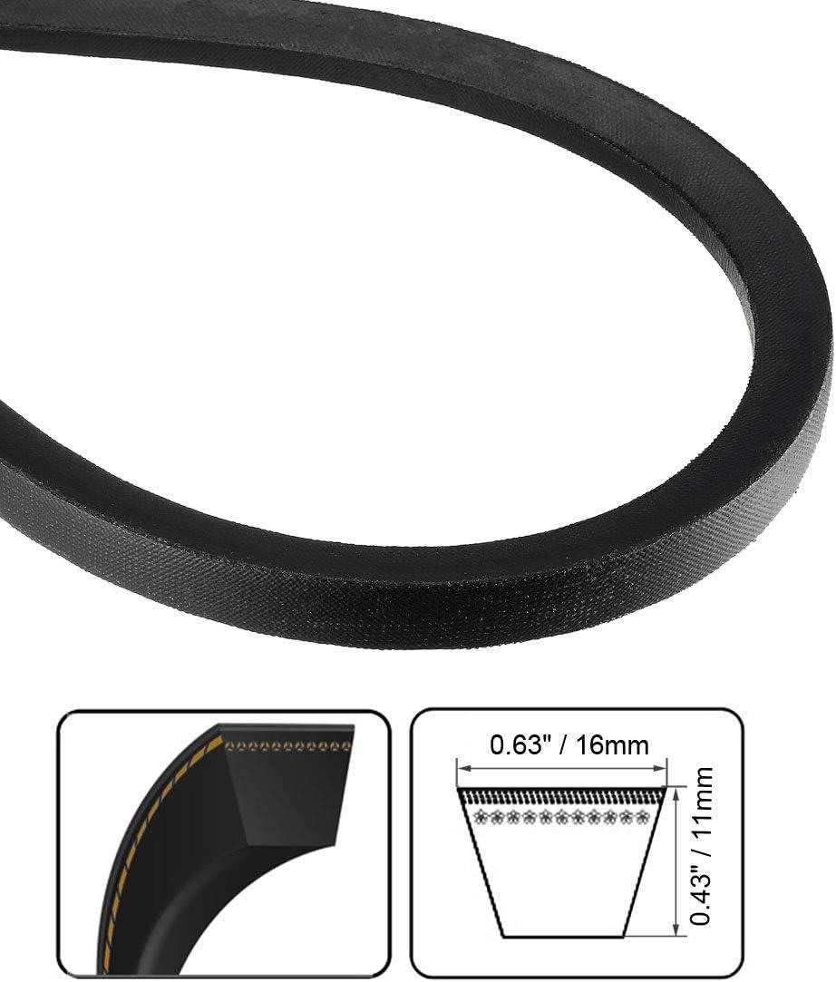 uxcell B165 Drive V-Belt Girth 165-inch Industrial Power Rubber Transmission Belt
