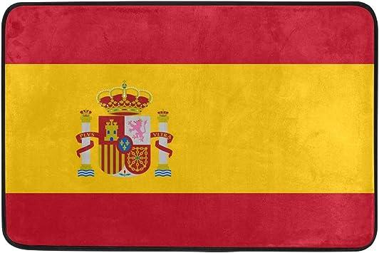 DEZIRO - Alfombrilla rascador de Zapatos, diseño de la Bandera de España: Amazon.es: Jardín