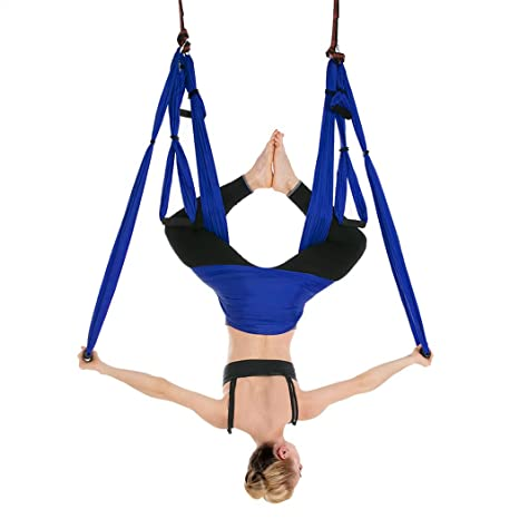 iphonepassteCK Aerial Yoga Swing Yoga Hammock Sling Antigravity Yoga Inversion Exercises