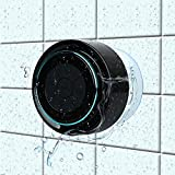 Bluetooth Shower Speakers, HAISSKY Portable Wireless Waterproof Speaker for iPhone iPad Samsung with FM Radio & Suction Cup, Build-in Mic, Hands-Free Speakerphone, Pairs to All Bluetooth Device, Black