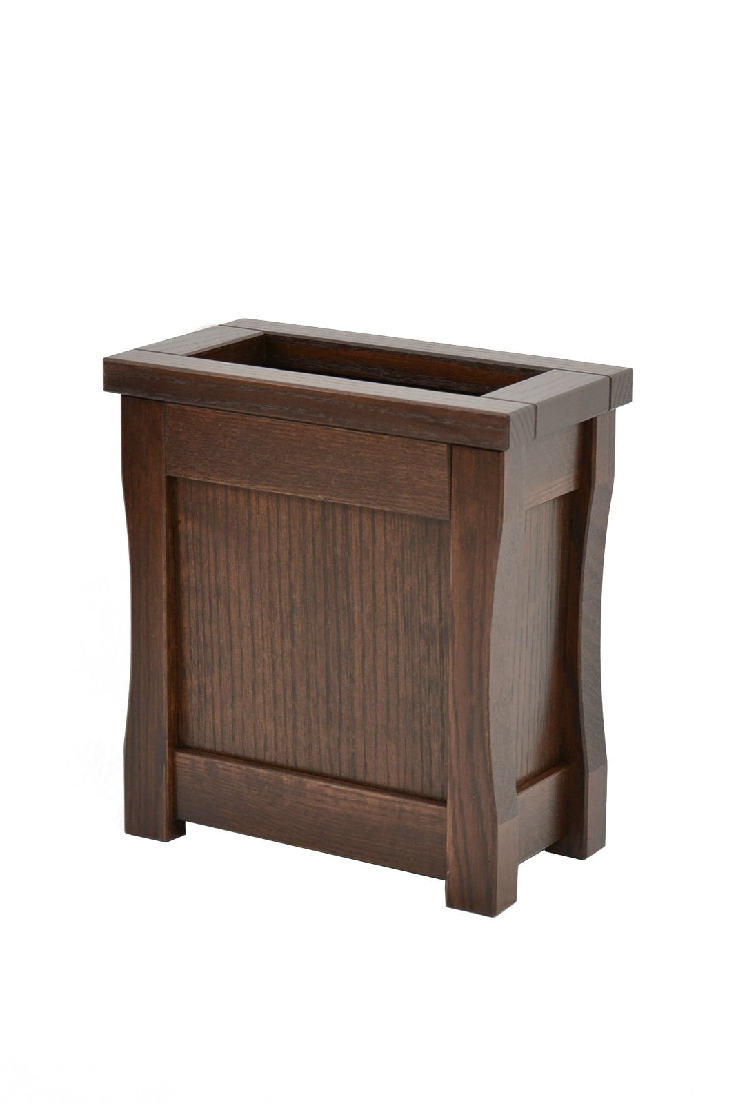 Small wooden trash can. Mission style. Oak. CQ-2-75
