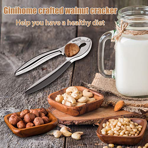 Seafood Cracker,GiniHome Heavy Duty Nut Crackers Walnut Opener Tools,Tool for Hazelnuts/Pecans/Peanuts/Pistachio/Lobster/Crab by GiniHome (Image #2)