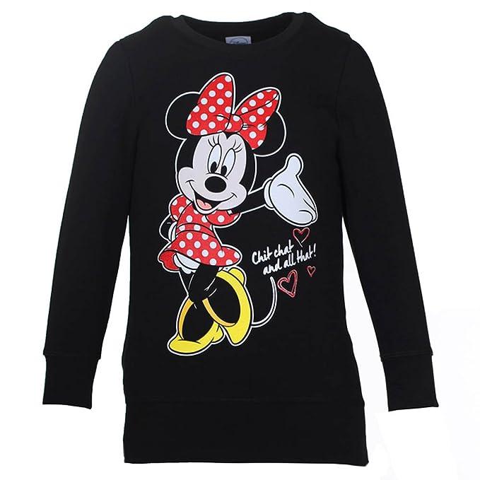 DISNEY Niñas Minnie Mouse Sudadera, negro, talla 128, 8 años: Amazon.es: Ropa y accesorios