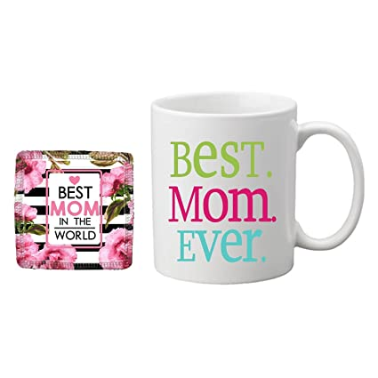 Giftsmate Birthday Gifts For Mom Mother Best Ever Coffee Mug Coaster