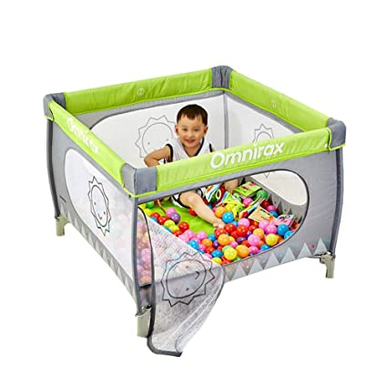 Charmant Play Yard Baby Playpen Portable Child Game Fence Folding Bed Toddler Fence  With Balls And Mosquito