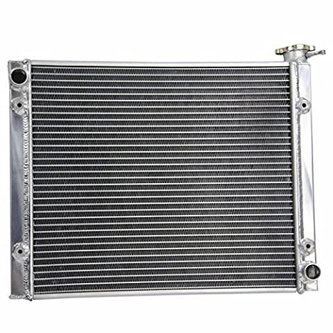 ALLOYWORKS Aluminum Racing Radiator for Polaris RZR XP 1000 XP1000 RZR XP 4 1000 / PS 2014 2015 2016,Manual (Air Cooled Shroud)