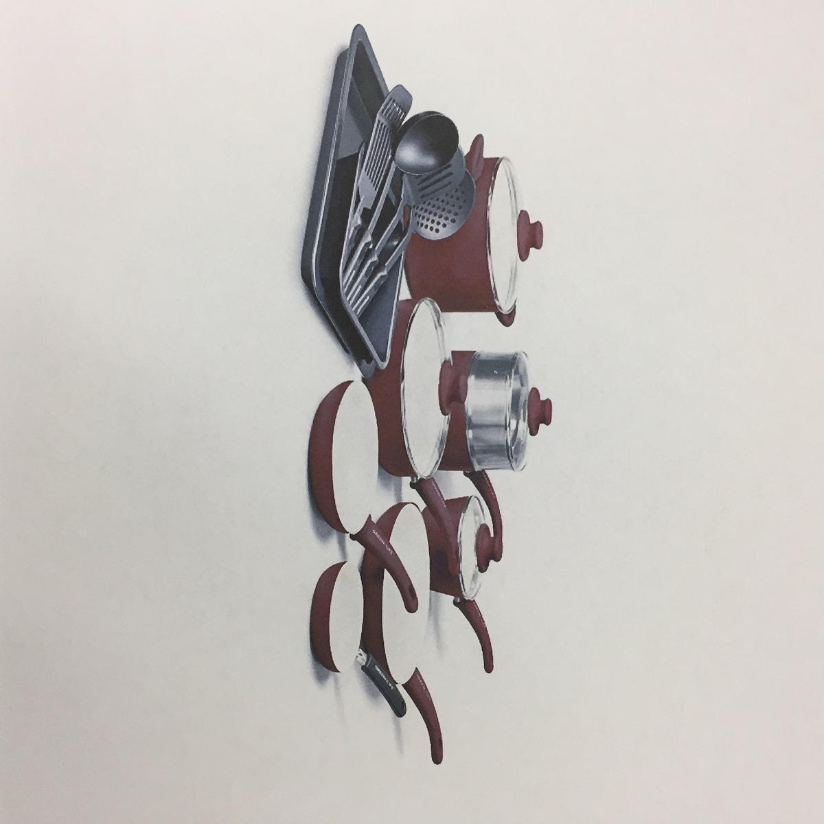 グリーンライフ18 Pieceアルミニウム調理器具set- Burgundy B078Y8G5V1