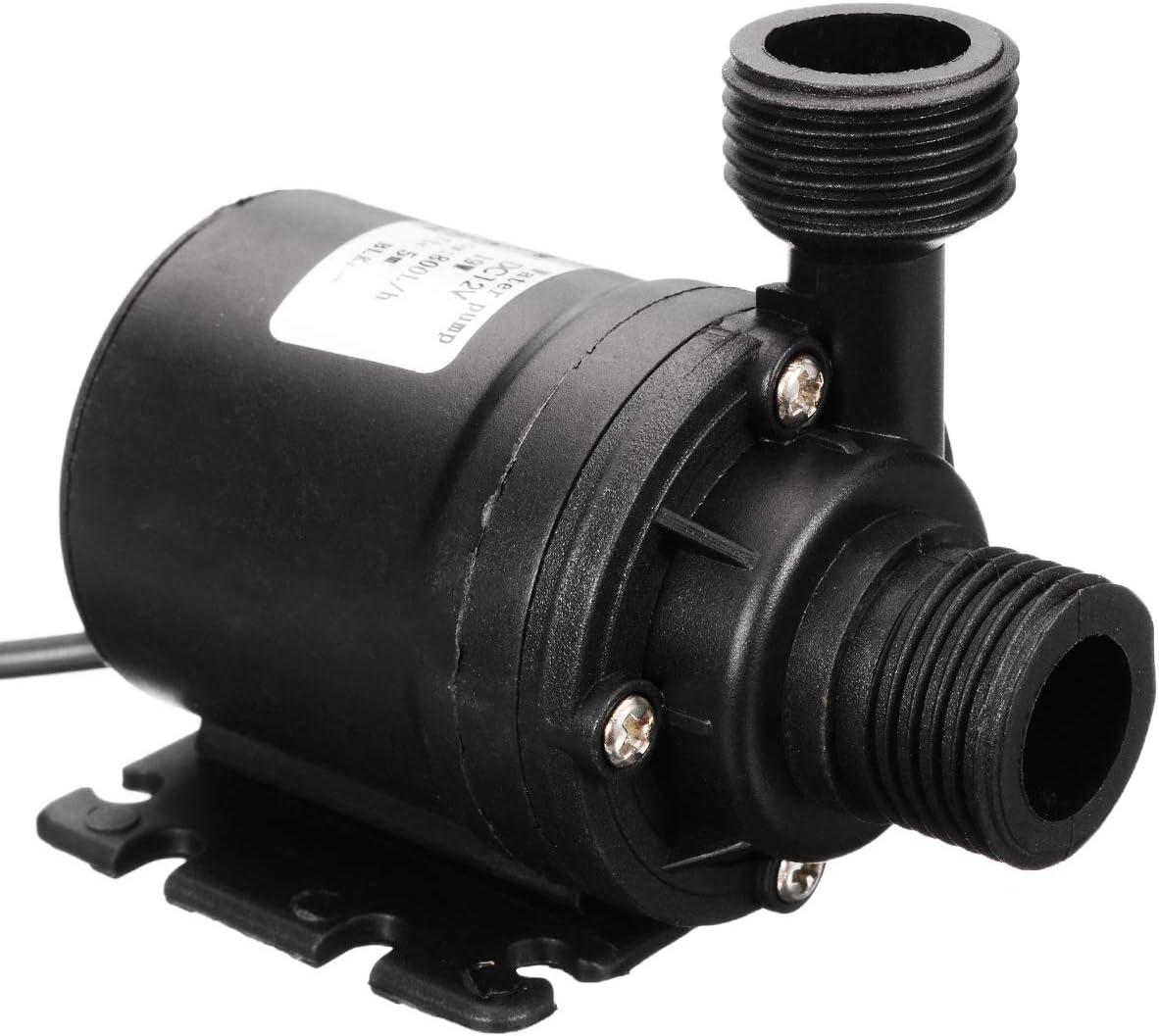 Mini IP68 800 L//H Pompe /à eau submersible /étanche pour bassins submersibles avec moteur sans balais DC 12 V 19 W