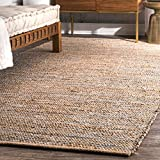 nuLOOM TAJT05A Handwoven Tarver Jute Rug, 4′ x 6′, Silver Review