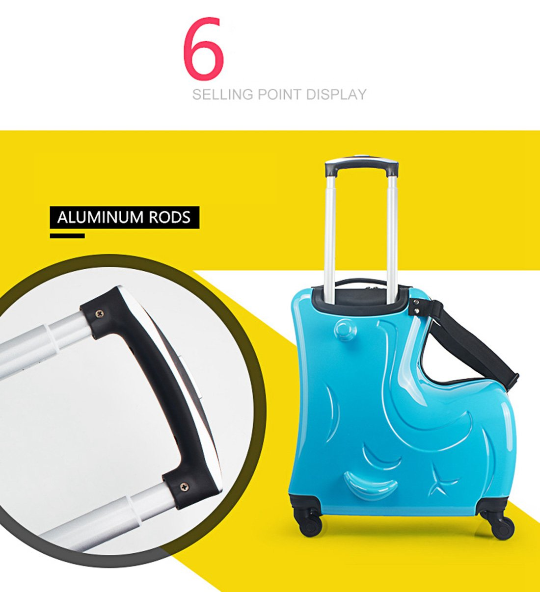 1057f63bd0 Bagages Ride-On Suitcase Enfant Enfant À Monter Valise Suitcase: Amazon.fr:  Sports et Loisirs