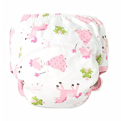 tefamore Baby Entrenamiento pantalones Toalla reutilizables Pañales Pañales lavable 0 – 3 AñOS rosa Rosa Talla