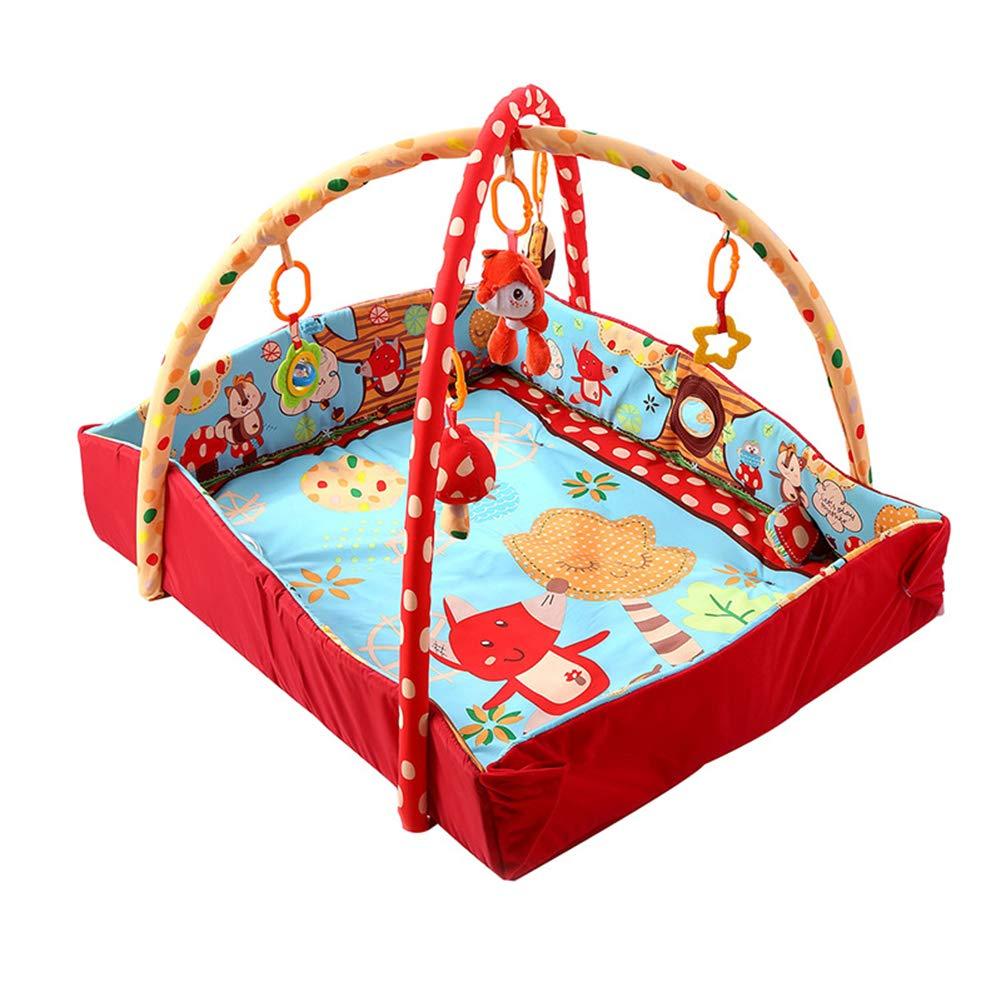 BPAEPFGG Tappeto Palestrina Musicale Bambini Base Quadrata della Volpe del Gioco Musicale di Musica del Bambino della Coperta del Bambino Che Striscia