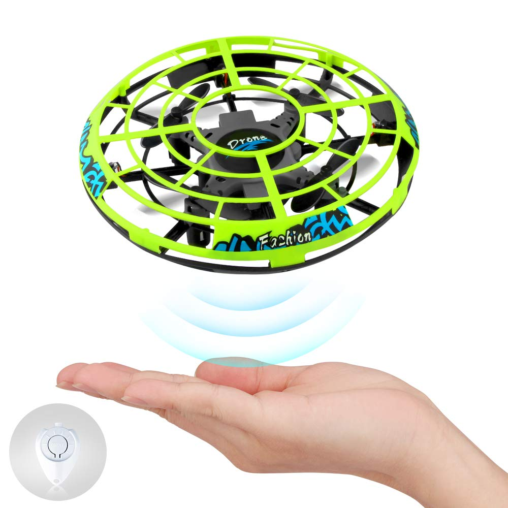 Baztoy Flying Ball RC UFO Flying Saucer Toys Hand Controlled Mini Drone Remote Control Helicopter Toy Hover Ball New Birthday Gifts with Cool LED Light Indoor Outdoor for Kids, Adults, Girls and Boys by Baztoy