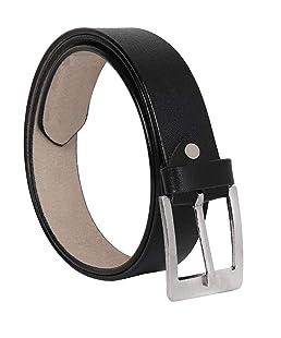 Ajanta Men's Leather Belt (Black, 34)