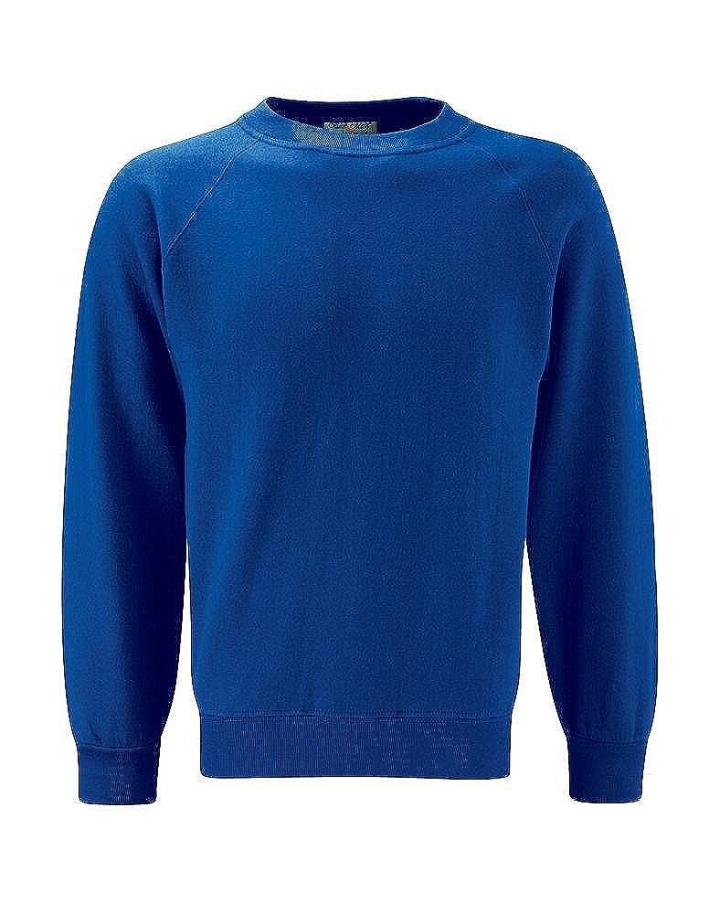 Blue Max Childrens School Uniform Sweat Jumpers Kids Classic V-Neck Sweatshirts
