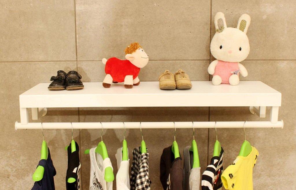 衣料品店、ディスプレイラック、ラックデコレーション服ラック、子供服ストア、壁掛け棚 (サイズ さいず : 120cm) 120cm  B07QXK2QBK