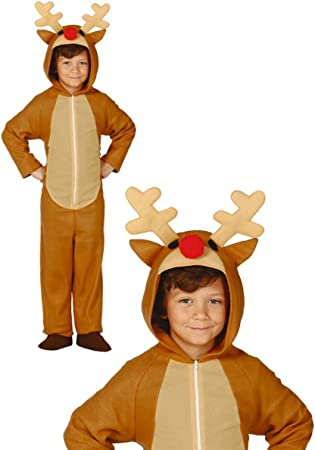 Disfraz de reno infantil 7-9 años: Amazon.es: Juguetes y juegos