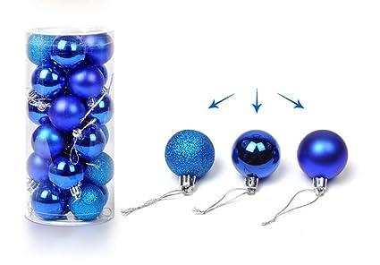 Jim Hesa 24PCS Christmas Ball Ornaments Bulk Baubles Set Blue Shatterproof  Hanging December - Amazon.com: Jim Hesa 24PCS Christmas Ball Ornaments Bulk Baubles Set