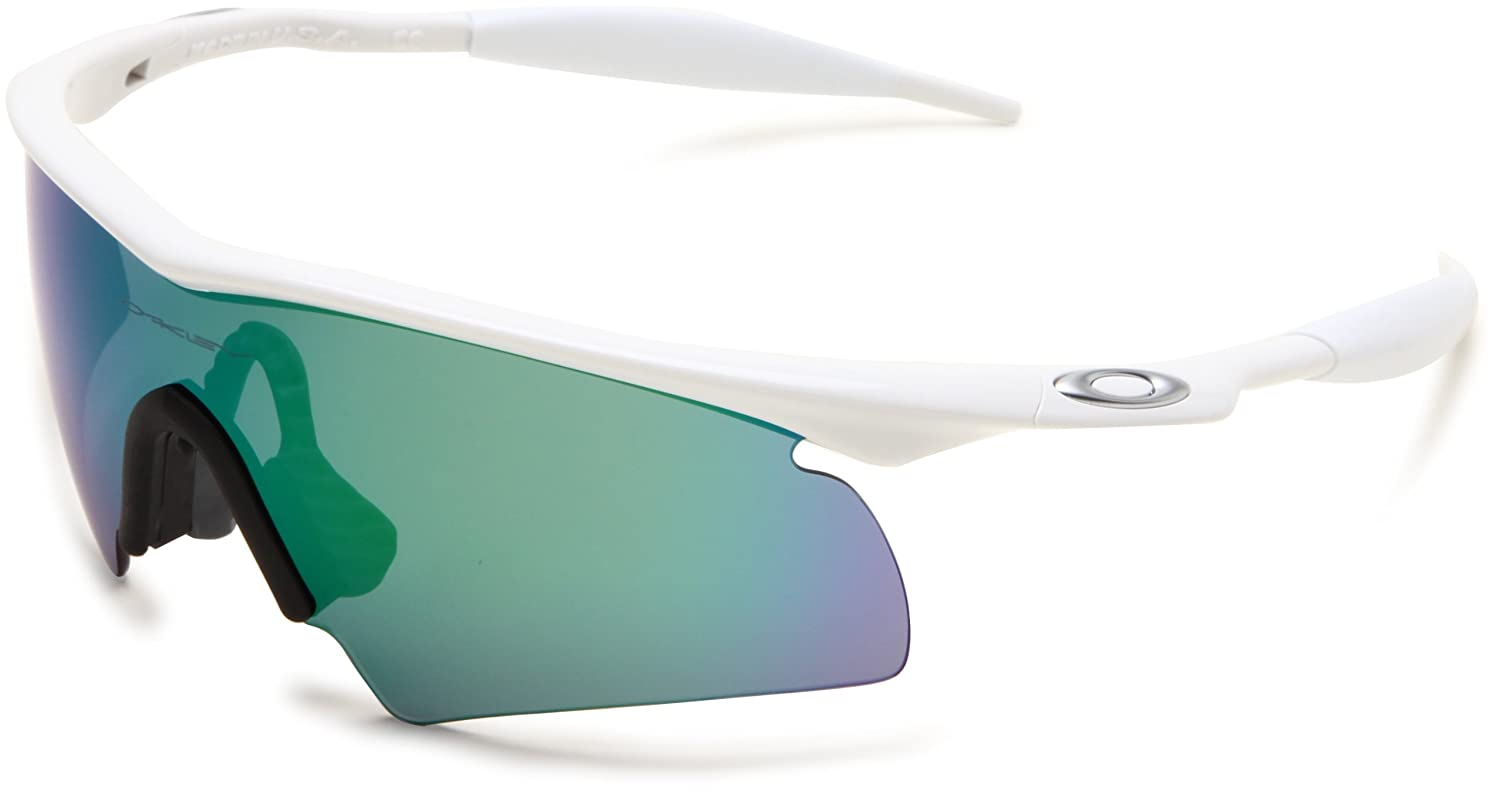 Amazon.com: Oakley Men's M-Frame Hybrid Sport Sunglasses,Polished White  Frame/Jade Lens,one size: Clothing