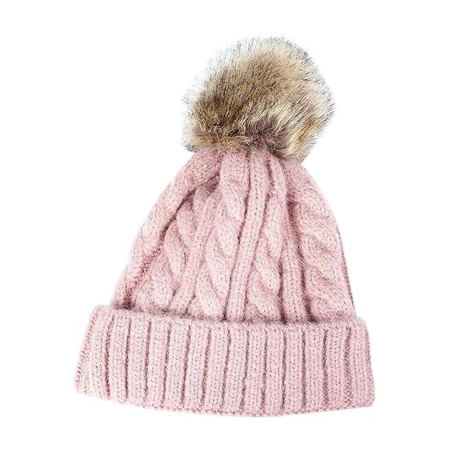 Winter Warm Knit Hat Pom Hat Crochet Hairball Beanie Cap for Women ... 44cd353eb4e