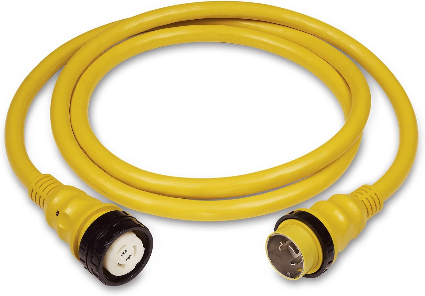 Marinco 199119G Marine 50 Ft Boat Shore Power Cord 30A LED Heavy Duty Watertight