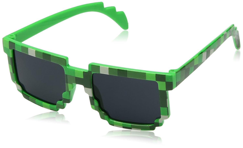 8-Bit Gioco Retrò Pixel Occhiali da Sole - Colore: Verde by EnderToys