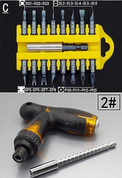 Sale Screwdriver Set Torx Holder Bit Security Steel Magnetic Star 1//4 Hex Tool C